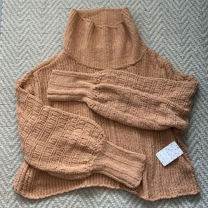 Free People Be All Yours Cowl Neck Sweater NWT L